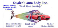 Snyder's Auto Body, Inc.